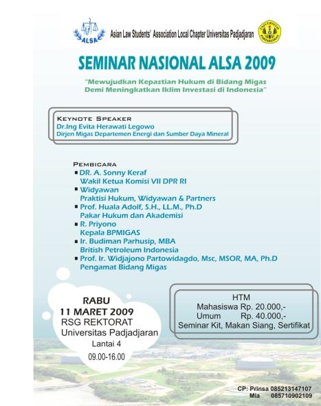 Seminar Nasional ALSA 2009